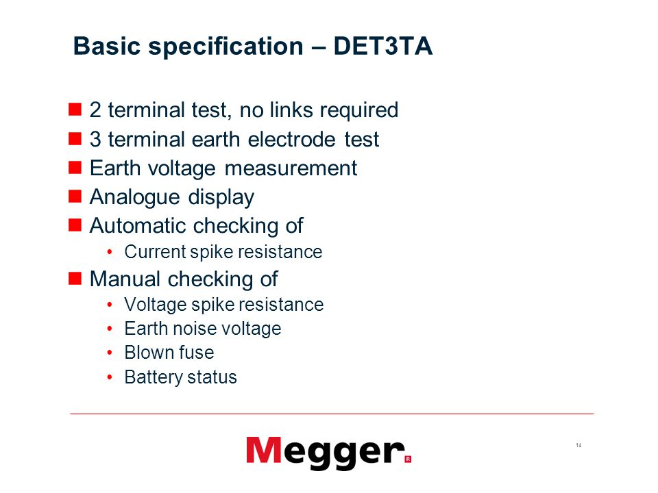 Basic specification – DET3TA