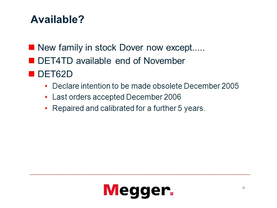 Available New family in stock Dover now except.....