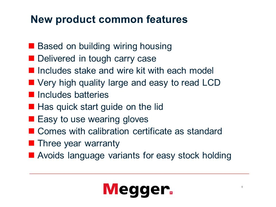 New product common features