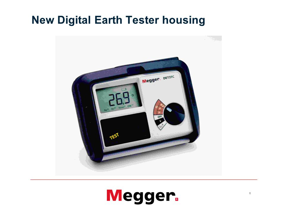 New Digital Earth Tester housing