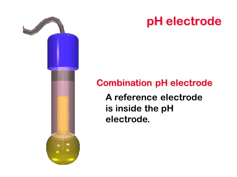 pH electrode Combination pH electrode A reference electrode