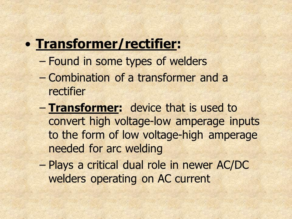 Transformer/rectifier: