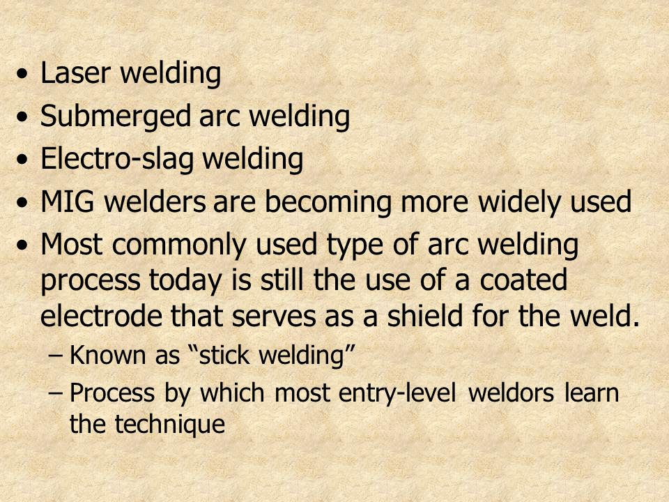 MIG welders are becoming more widely used