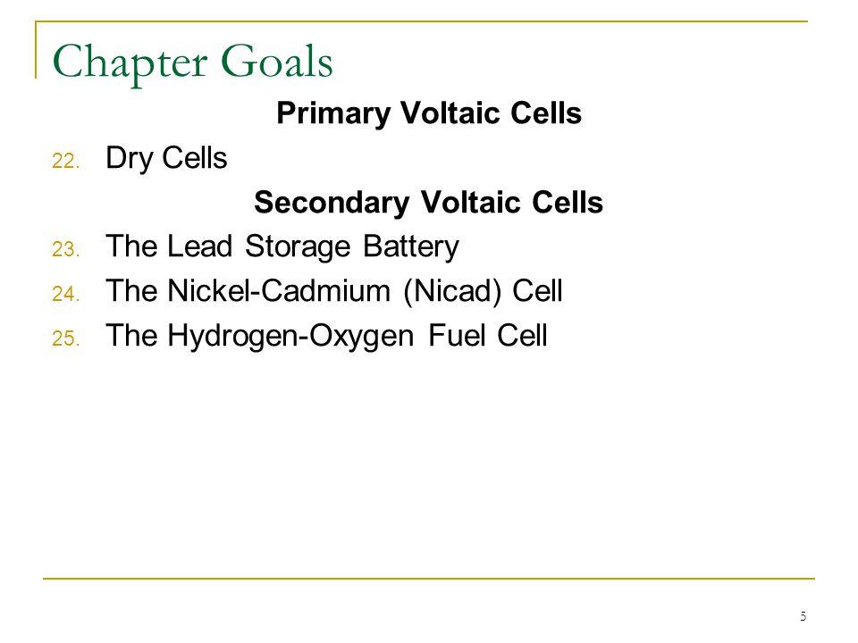 Secondary Voltaic Cells
