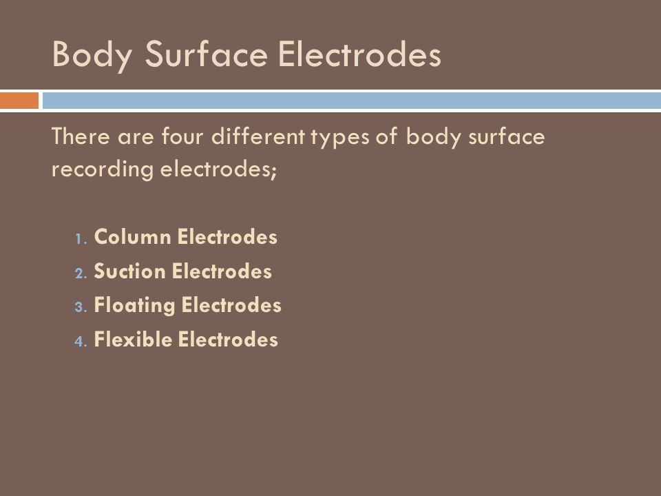 Body Surface Electrodes
