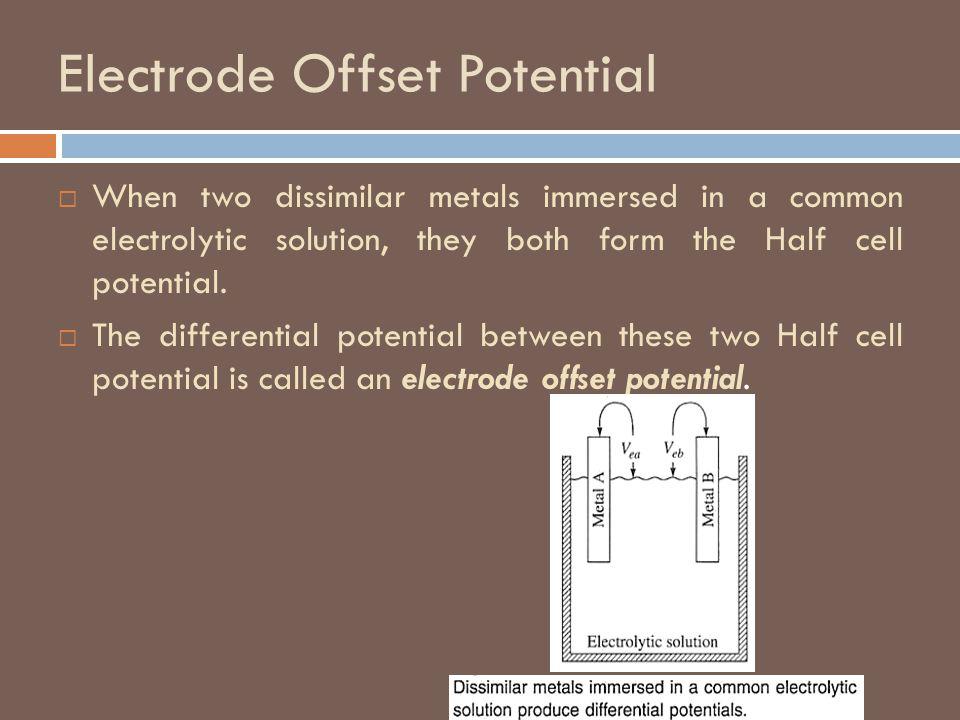 Electrode Offset Potential