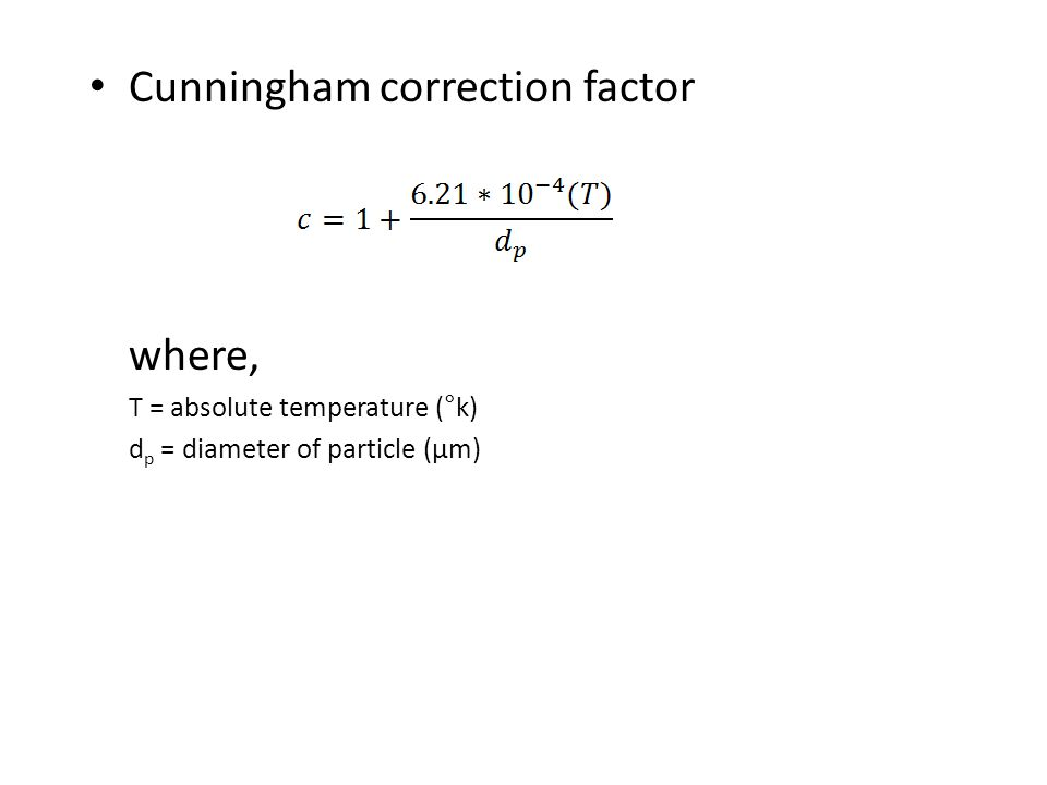 Cunningham correction factor