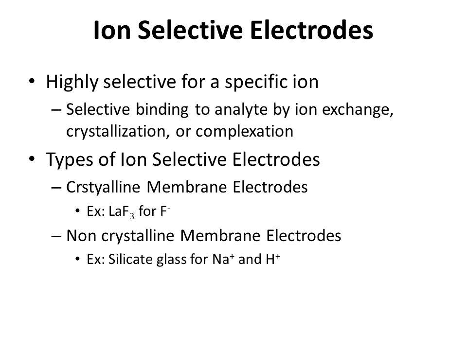 Ion Selective Electrodes
