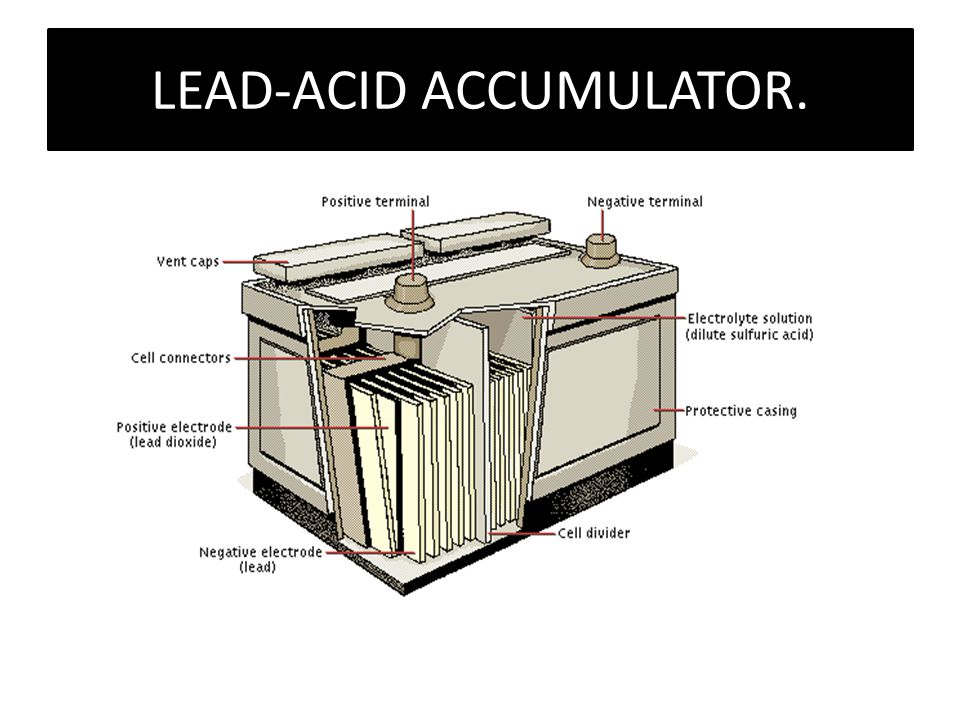 LEAD-ACID ACCUMULATOR.