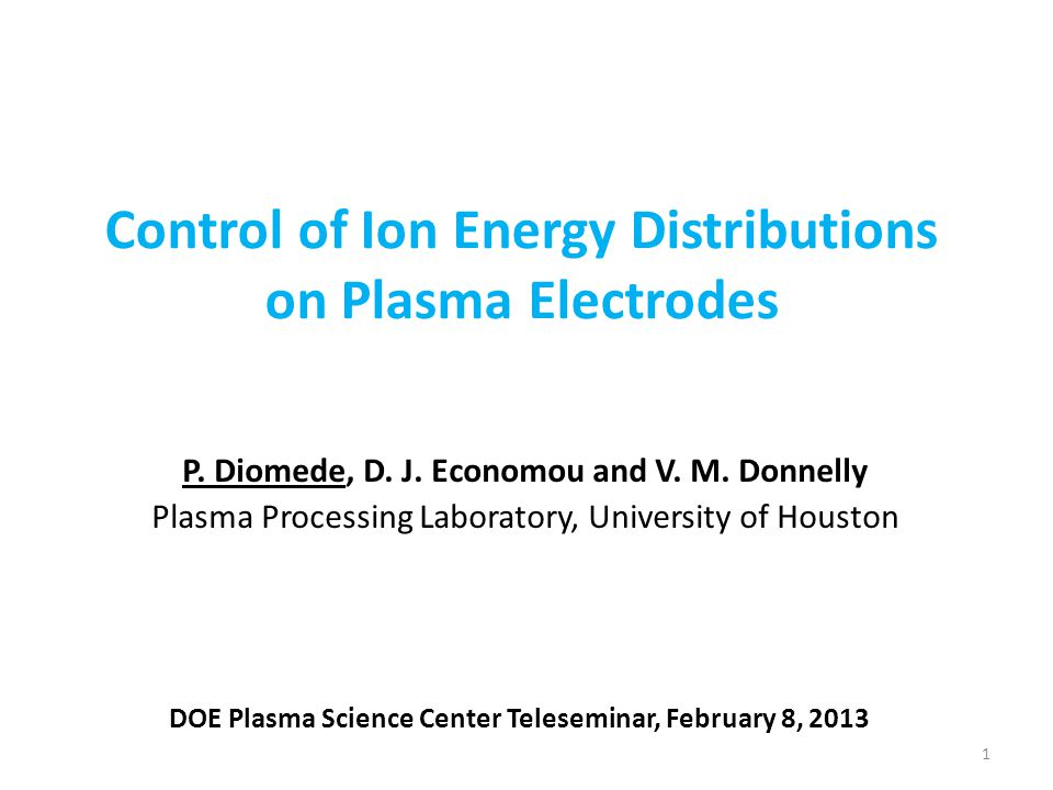 Control of Ion Energy Distributions on Plasma Electrodes