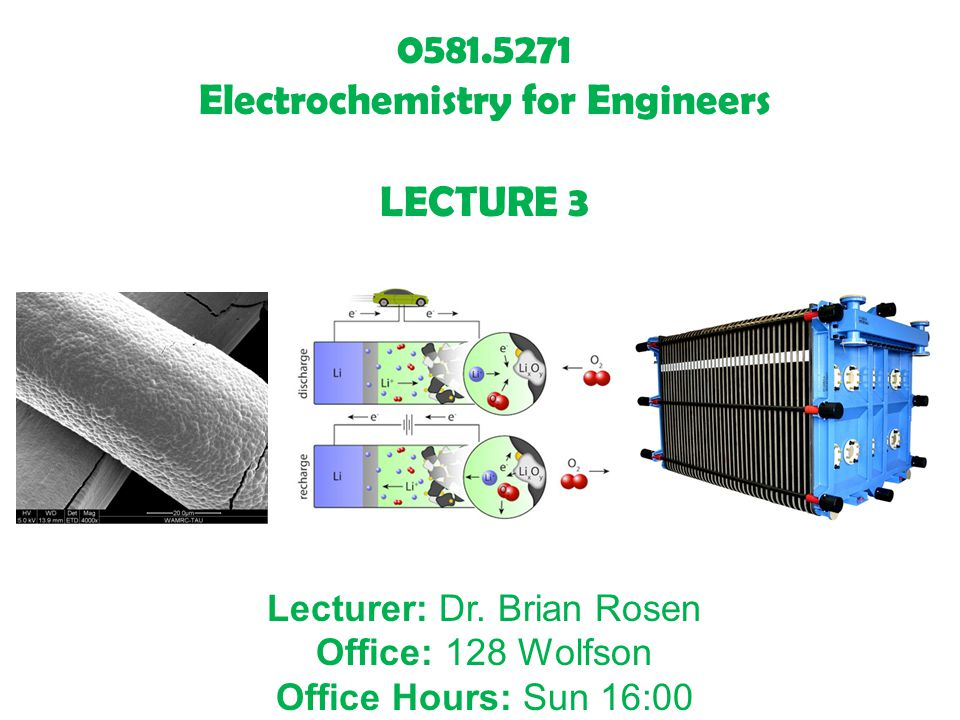 Electrochemistry for Engineers