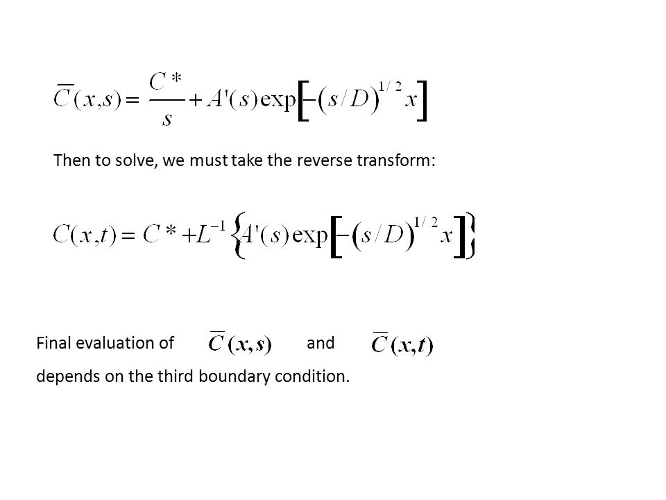 Then to solve, we must take the reverse transform: