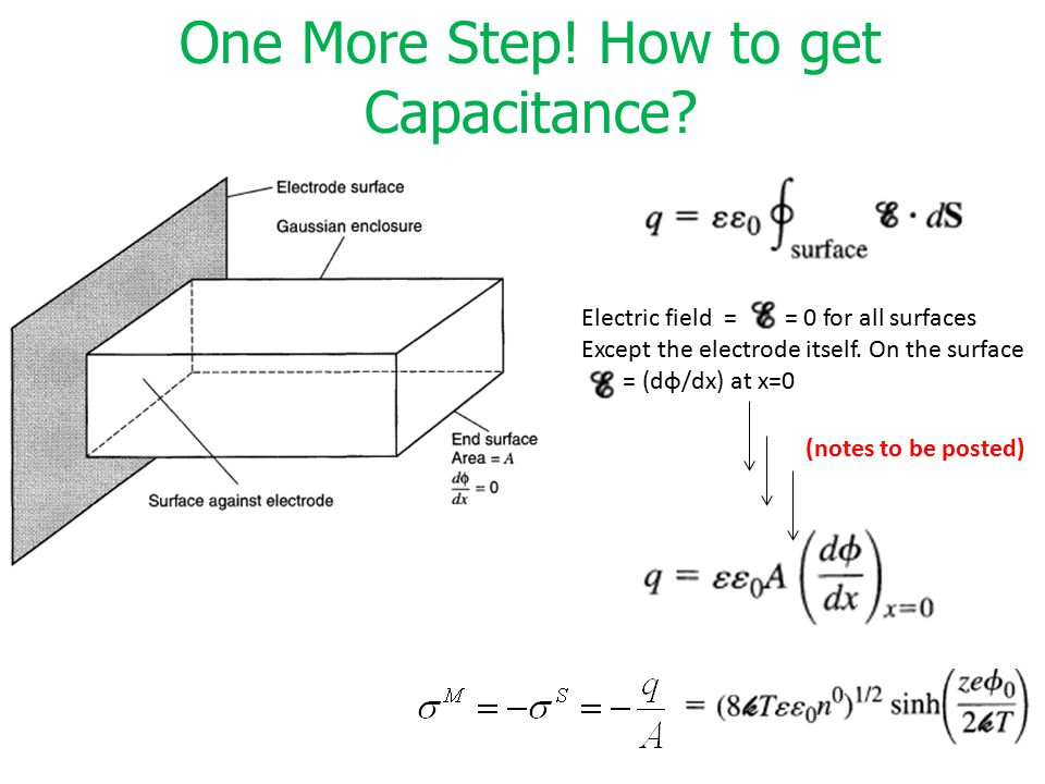 One More Step! How to get Capacitance