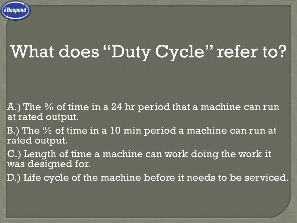 What does Duty Cycle refer to