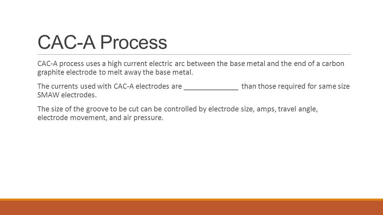 CAC-A Process