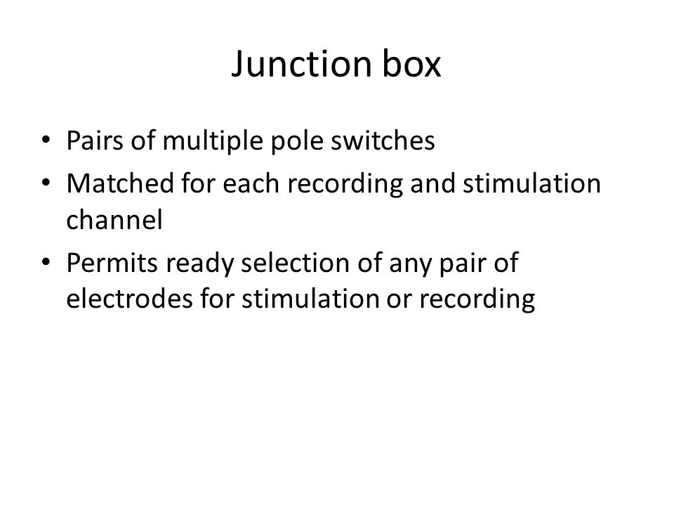 Junction box Pairs of multiple pole switches