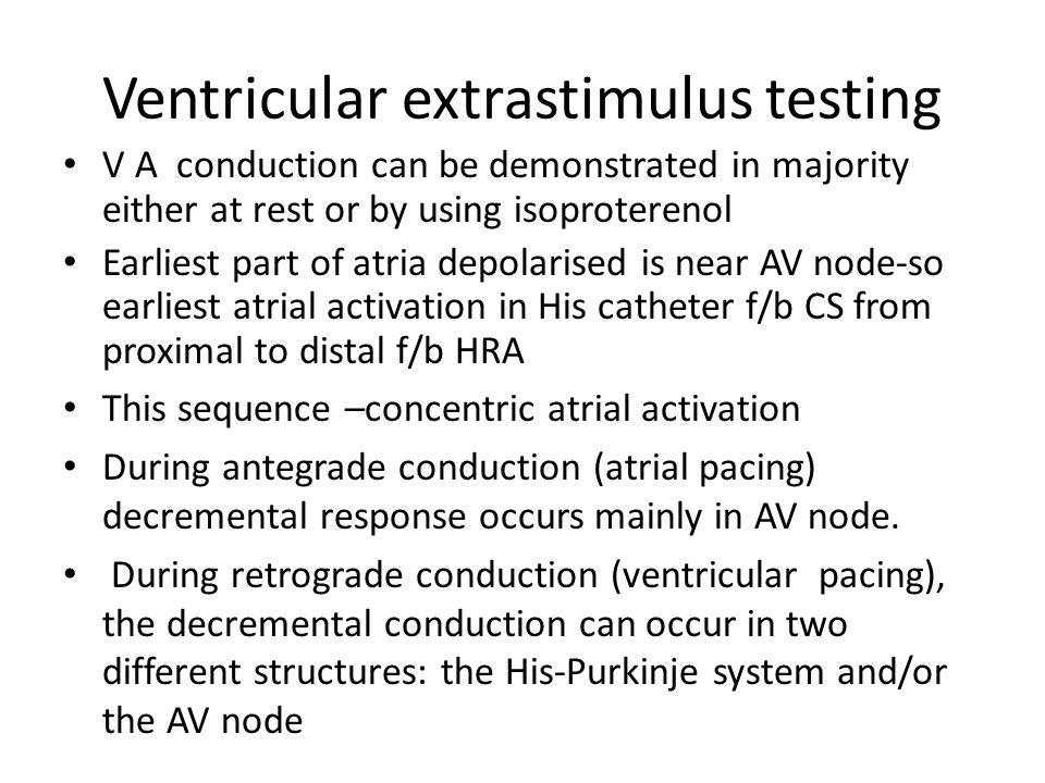 Ventricular extrastimulus testing