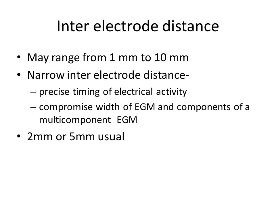 Inter electrode distance