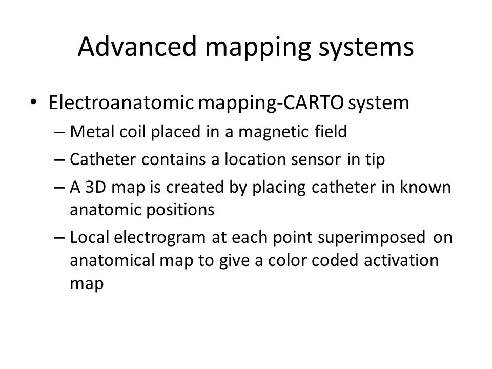 Advanced mapping systems