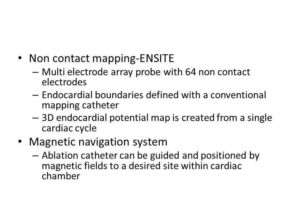 Non contact mapping-ENSITE