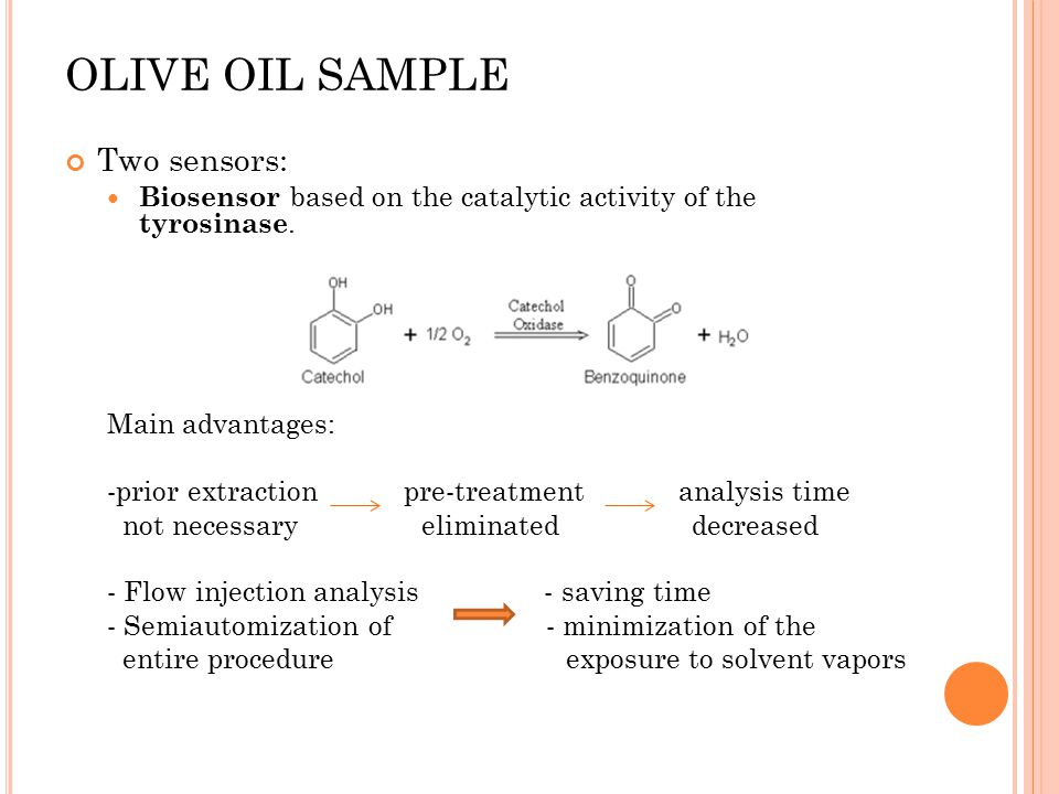 OLIVE OIL SAMPLE Two sensors: