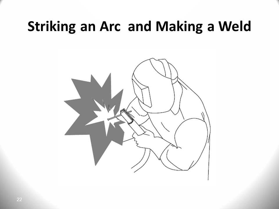 Striking an Arc and Making a Weld