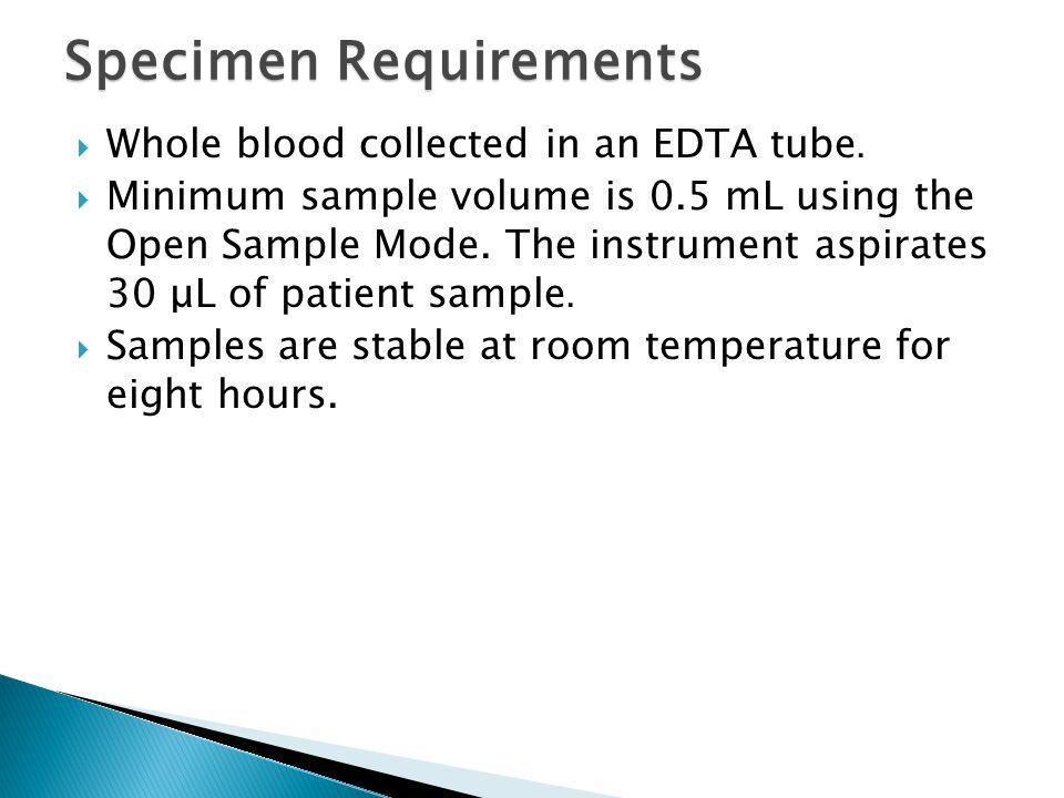 Specimen Requirements