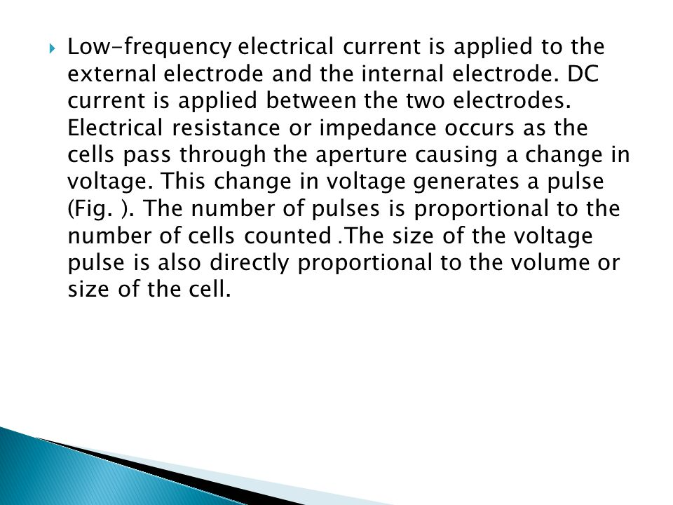 Low-frequency electrical current is applied to the external electrode and the internal electrode.