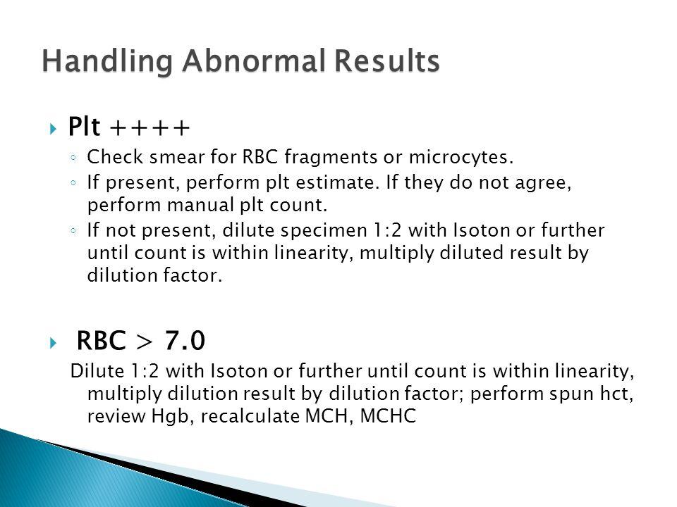 Handling Abnormal Results