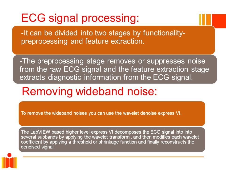 Removing wideband noise: