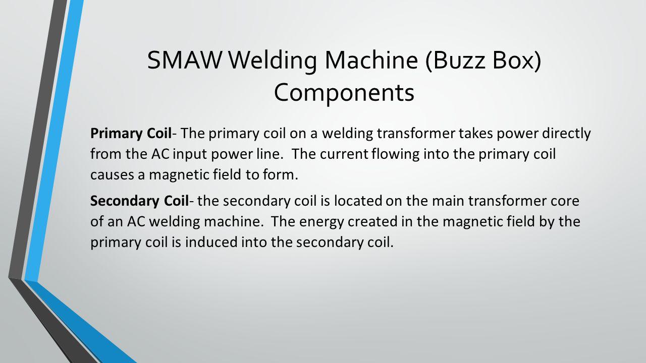 SMAW Welding Machine (Buzz Box) Components