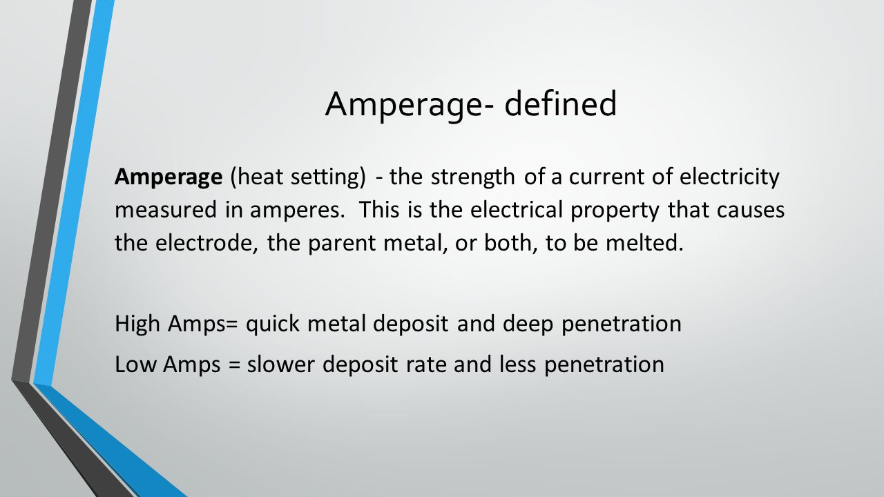 Amperage- defined