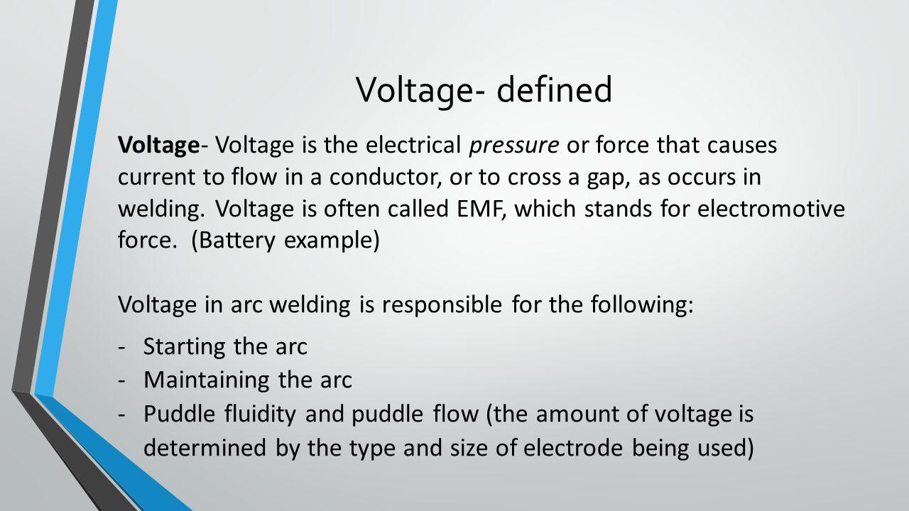 Voltage- defined