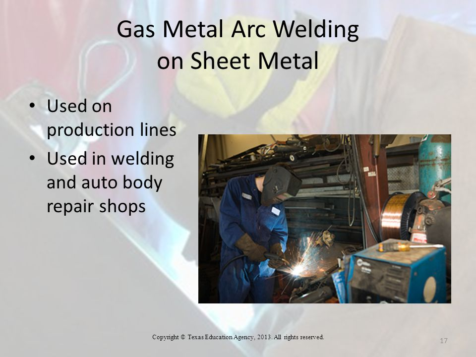 Gas Metal Arc Welding on Sheet Metal