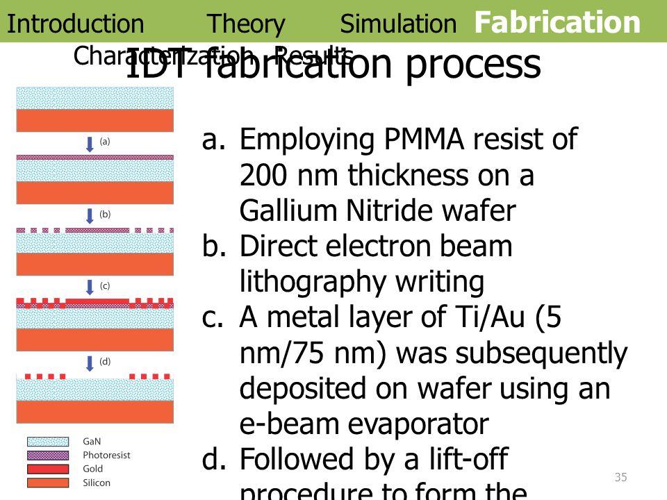 IDT fabrication process