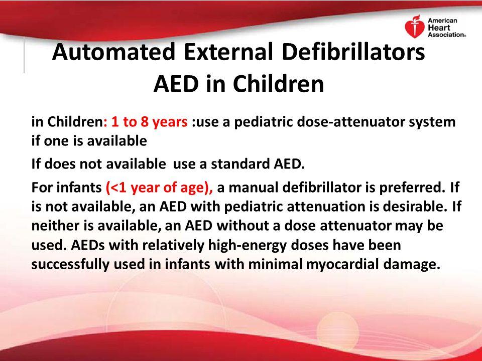 Automated External Defibrillators AED in Children