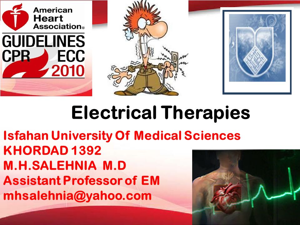 Electrical Therapies Isfahan University Of Medical Sciences