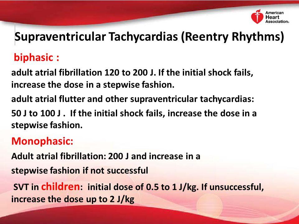 Supraventricular Tachycardias (Reentry Rhythms)