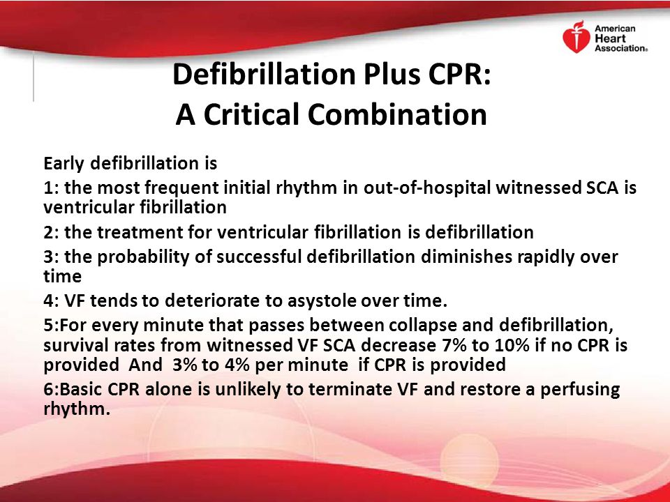 Defibrillation Plus CPR: A Critical Combination