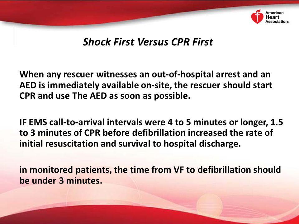 Shock First Versus CPR First