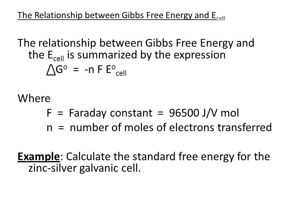 F = Faraday constant = 96500 J/V mol