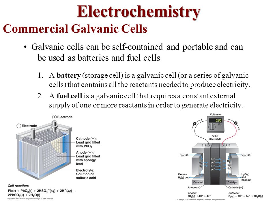 Commercial Galvanic Cells
