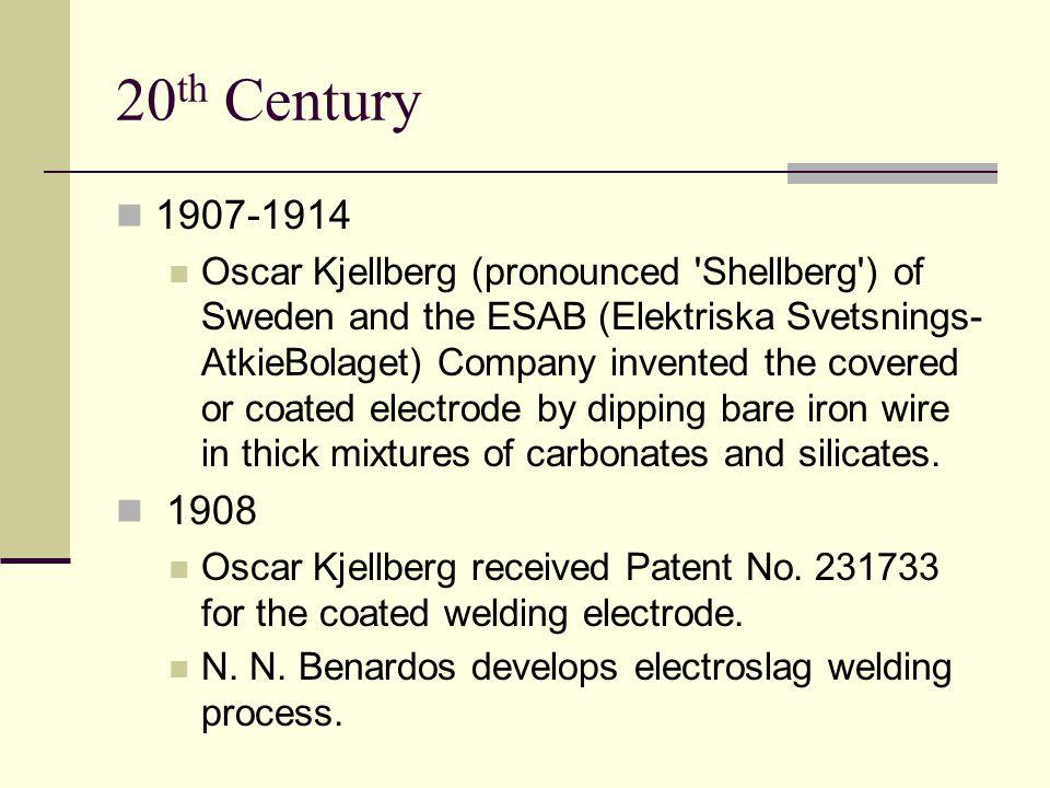 20th Century 1907-1914.