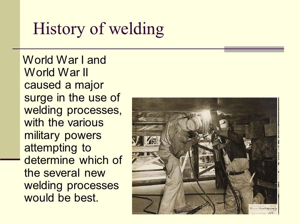 History of welding