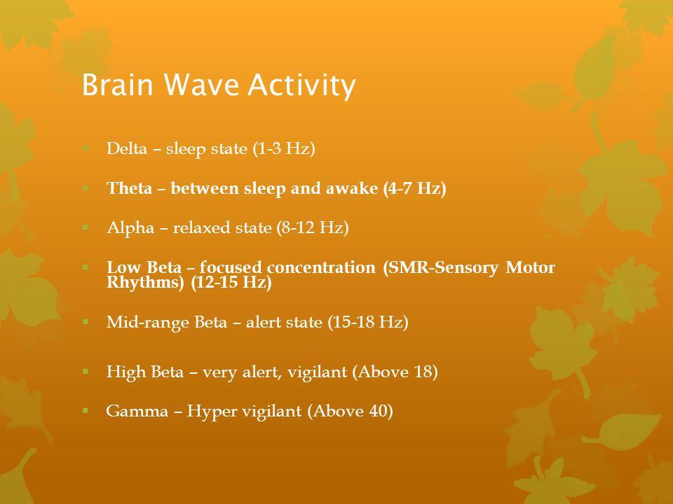 Brain Wave Activity Delta – sleep state (1-3 Hz)