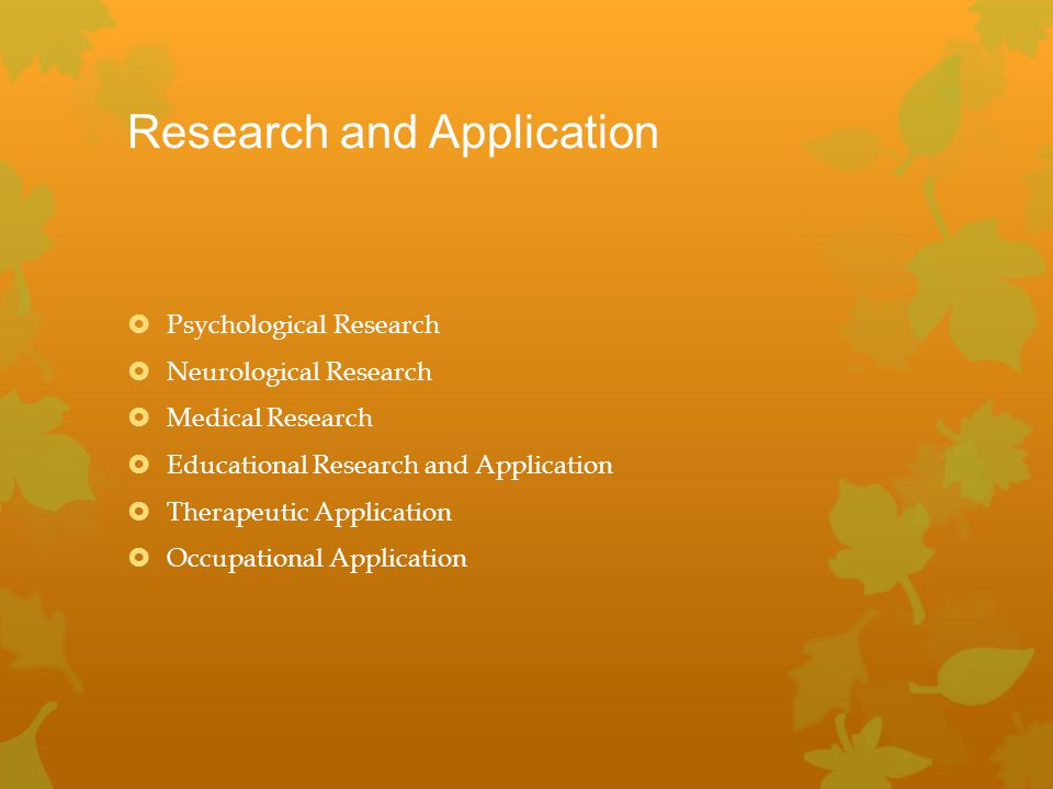 Research and Application