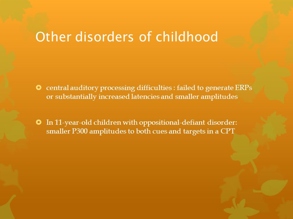 Other disorders of childhood