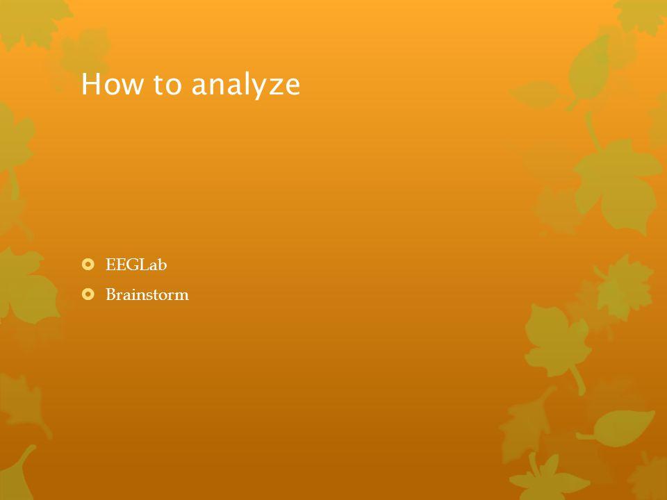 How to analyze EEGLab Brainstorm