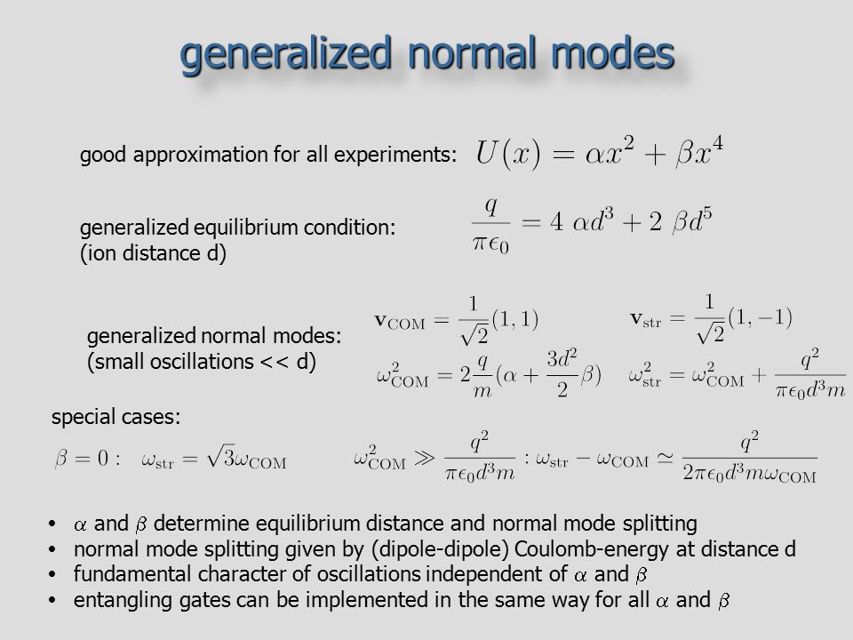generalized normal modes
