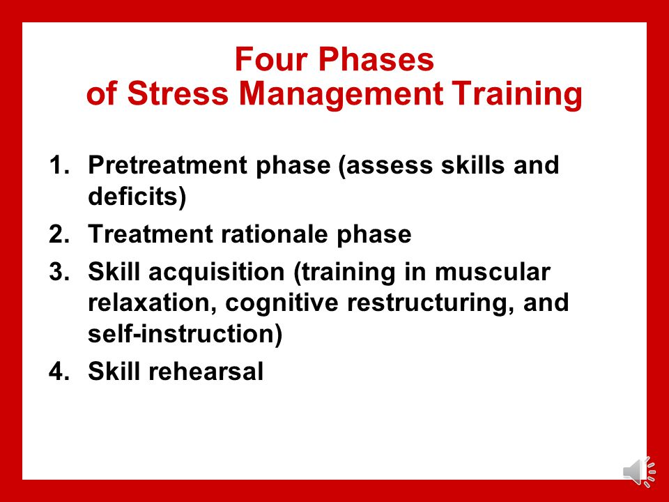 Four Phases of Stress Management Training